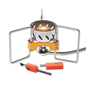 Estufa de Gas de Camping, Multi-función Split Tipo Mini Estufa Plegable Cabeza Estufa