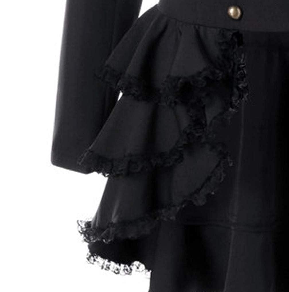 FNKDOR Manteau Femme Automne Hiver Vintage Punk Gothique Noble Veste ... eefc1035778