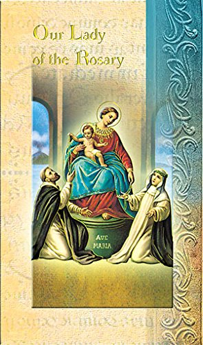 William J. Hirten Deluxe Catholic Holy Card with Traditional Prayers (Our Lady of The Rosary)