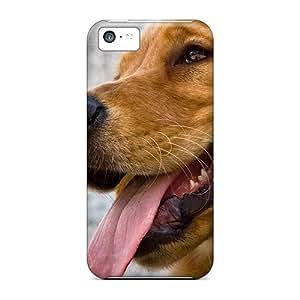 Fashion Tpu Case For Iphone 5c- Raiden The Golden Retriever Defender Case Cover