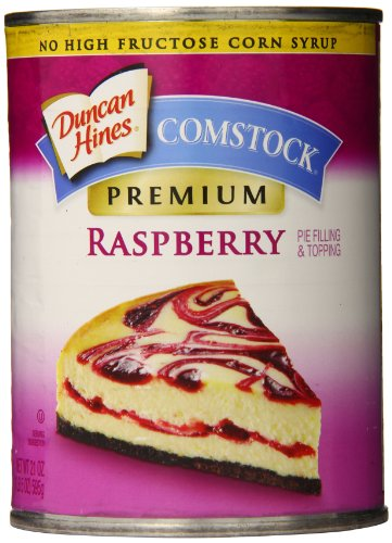 Comstock Premium Pie Filling & Topping, Raspberry, 21 Ounce (Pack of 8) (Filling Raspberry)
