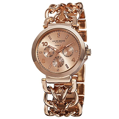Akribos XXIV Rose Gold-tone Alloy Ladies Watch AK746RG