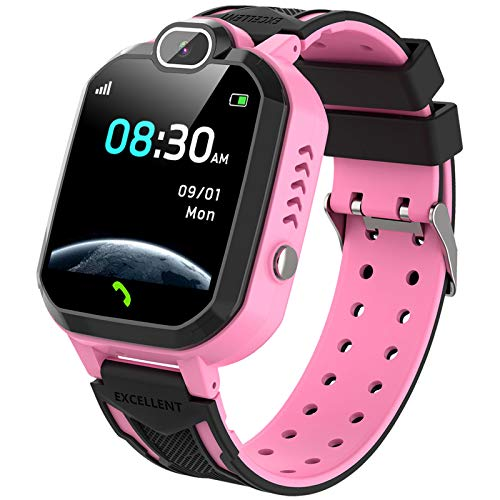 Kids Smartwatch for Boys Girls Phone Game Smart Watch for Kids Children Music Player Camera Alarm Clock Birthday Gift by YENISEY (Pink)