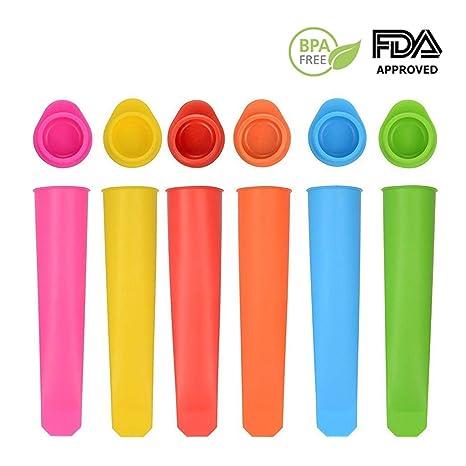 Molde para helados, Augola Moldes de silicona, moldes hielo con tapas - sin BPA