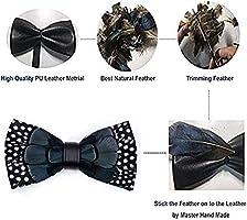 ysister Corbata de lazo de plumas naturales para hombre hecho a ...