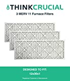 3 12x30x1 MERV 11 Furnace Filters, Designed & Engineered by Crucial Air