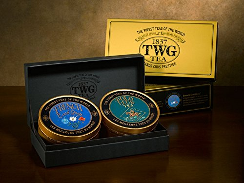 TWG Singapore - Luxury Teas - Sweetheart Tea Set - 2 x 3.5oz Loose leaf Caviar Tin's by Unknown