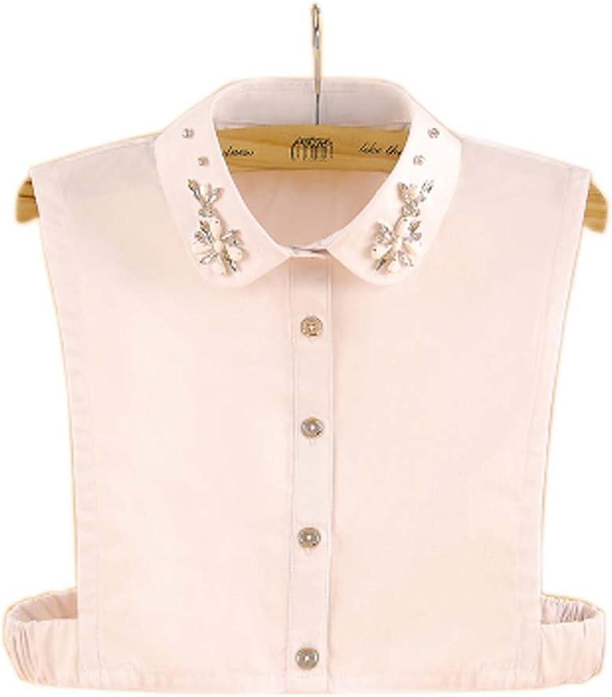 Black Temptation Elegante Falda Media Camisa de la Mujer Blusa Cuello Desmontable, 20: Amazon.es: Ropa y accesorios