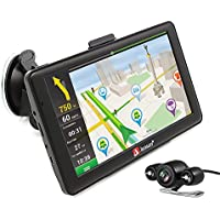 junsun Portable Android 7 inch 8GB Capacitive Touchscreen Car GPS Navigation System sat nav Lifetime Maps