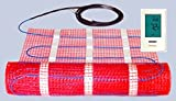 20 Sqft UL Listed 120v Electric Radiant Floor Heating Mat Kit with Thermostat