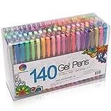 Smart Color Art 140 Colors Gel Pens Set Gel Pen For Adult Coloring books Drawing Painting Writing