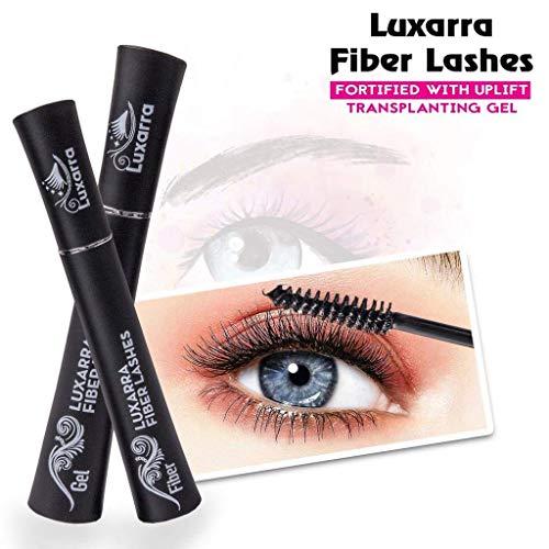 luxarra 3D Fiber Lash Mascara Waterproof, Luxuriously Longer, Thicker, Voluminous Eyelashes, Long-Lasting, Dramatic Extension