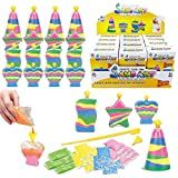12 Pack Create Your Own Colored Sand Art Kits | Includes 12 Bottles, Funnels, Sticks, 48 Bags of Sand | Ideal for Kids Arts and Crafts, Schools, Birthday Party Favors Bulk (1 Dozen in Box)