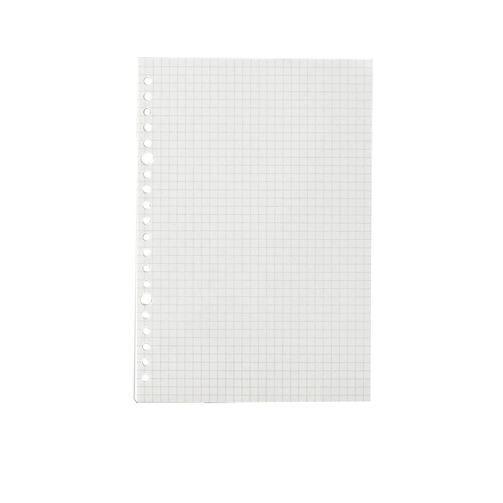 JUNDA Refill Papers,A5 Size 20 Holes Grid Creamy White Paper for Loose Leaf Binder Notebook,60 Sheets/Set,3 Sets