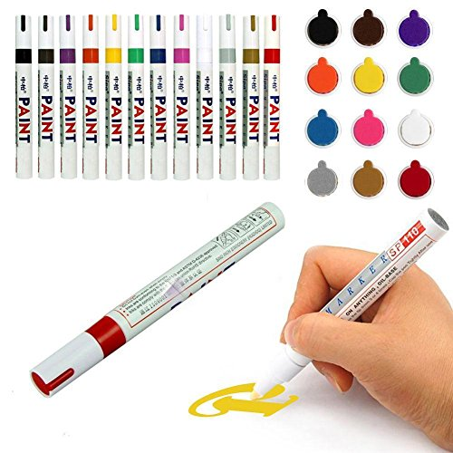 Paint Pens, gloednApple 12 Colors Paint Markers, Oil-Based E
