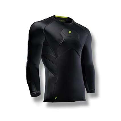 bc7ec83b9b2 Storelli BodyShield Goalkeeper 3/4 Undershirt |Athletic Shirts Padded  Against Impact |UV Resistant