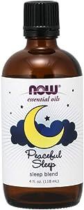 NOW Essential Oils, Peaceful Sleep Oil Blend, 4 -Ounce (4)
