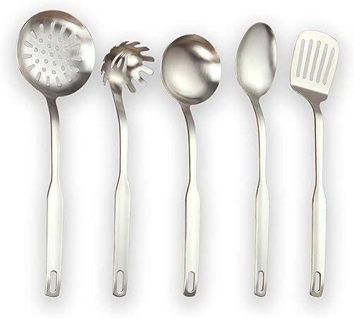 Cuivre Accessoires de Cuisine Set de 4 Acier Inoxydable Ustensiles de cuisine avec support