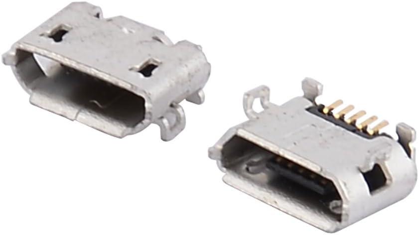 sourcingmap/® Micro USB Type B 5 Pin Female Charging Port Dock Jack Connector 10 Pcs