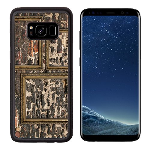 Luxlady Premium Samsung Galaxy S8 Aluminum Backplate Bumper Snap Case IMAGE ID: 26550836 Three wooden frames over ruined wall