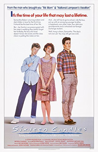 "Sixteen Candles  Movie Poster 24""x36"""