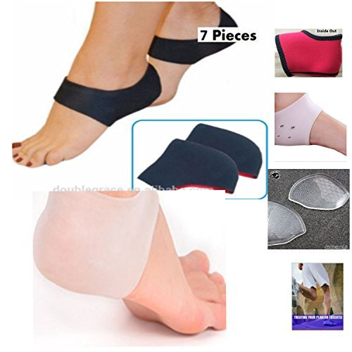 Dr. Kelly's Plantar Fasciitis Treatment 7 Pc Heel & Ankle Support Pack Foot Sleeve Ankle Sock Gel Pads e-Book (Sleep Number Insert compare prices)