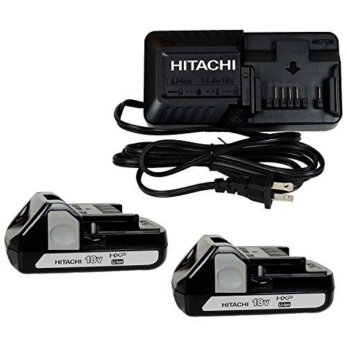 Hitachi UC18YKSL 14.4 -18V Battery Charger & Two BSL1815X 18V Li-Ion Batteries