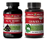 Product review for anti aging oil - ACAI BERRY - GRAVIOLA - graviola leaves powder - 2 Bottles Combo 120 Capsules