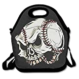 Tesu Bags Skeleton Baseball Cartoon Outdoor/Travel/Picnic Lunch Bag
