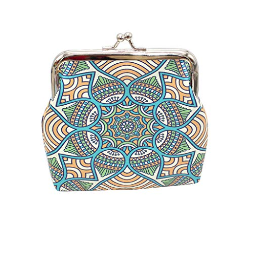 (Claystyle Women Geometric Print Character Leather Wallet Coin Purse Card Holders Handbag)