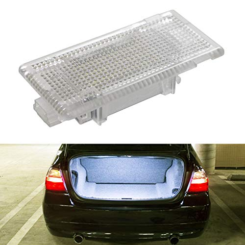 iJDMTOY Super Bright 2W High Power Xenon White Full LED Trunk Cargo Area Light Assembly For BMW 3 5 6 7 Series X1 X5 MINI, Powered by 24-SMD LED Diodes & CAN-bus Error Free