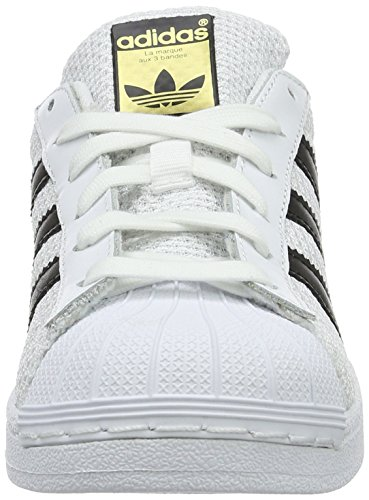 adidas Unisex Cblack Kinder Ftwwht Ftwwht Weiß Low Superstar Top J rrng8xqwd6