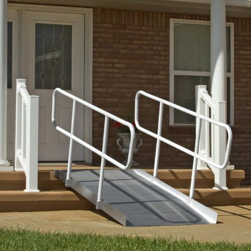 Solid Ramp Size: 72'' L x 36'' W x 5'' D, Feature: With Handrails
