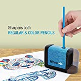 PowerMe Electric Pencil Sharpener - Battery Operated, (No Cord) for Home, Office, School, Artist, Students and more! – Ultra Portable, ideal for No. 2 And Colored Pencils (Drawing, Coloring)