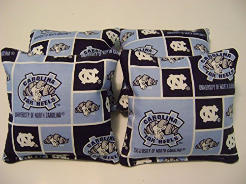 4 Cornhole Unc Bean Bag Corn Hole North Carolina Tarheels Tailgate Toss
