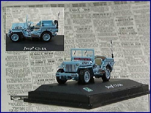 1/72 ジープ CJ-2A(ベージュ×イエロー×ホワイト) 4965-4