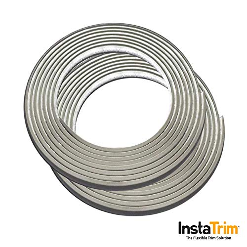 InstaTrim IT05GRY InstaTrim-1/2 inch wide Flexible, Self-adhesive, Caulk and Trim Strips for -