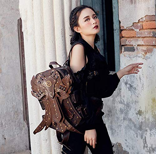fei Homme pour pour Wei Dos et Steampunk Tendance à de Voyage Femme rétro Sac Aile qgwESdS