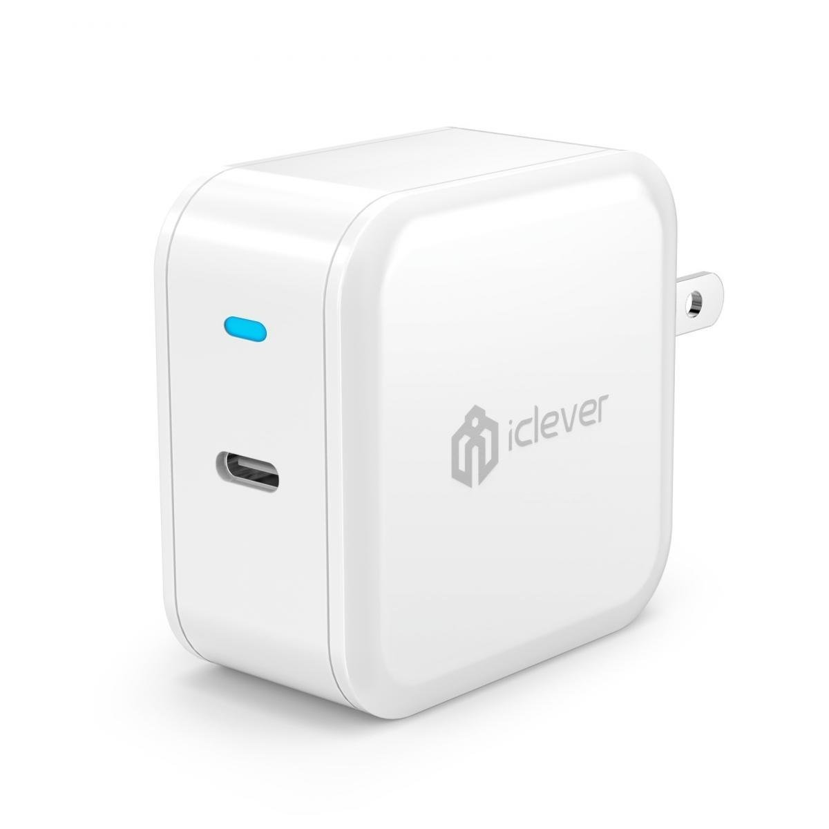 USB C Charger, iClever 30W USB Type C Power Delivery Wall Charger with Foldable Plug for iPhone X/8/8 Plus, Macbook 2015/2016, Pixel C, Nexus 5X/6P, Galaxy Note 5, LG G5, Moto Z, HTC 10 and more