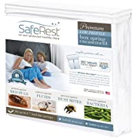 """SafeRest Premium Low Profile Box Spring Encasement - Lab Tested Bed Bug Proof, Dust Mite Proof and Waterproof - Breathable, Noiseless and Vinyl Free - 5.5"""""""