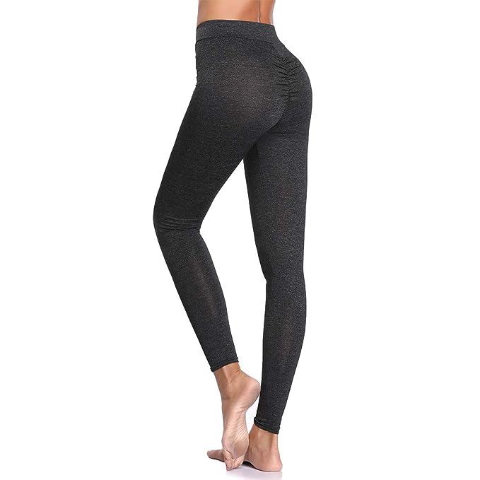 e104a2eade883 Joyshaper Womens Scrunch Butt Leggings Mid Waist Ruched Compression Tummy  Control Pants Stretchy Tights(Black