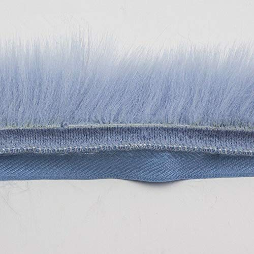 1 Yrad Imitation Fur Tapes Fluffy Furry Trim Trimming Sewing Costume Crafts (Color - Blue)