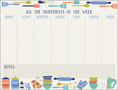 Gina B Kitchen Design Weekly Planner Pad with Attachable Magnet