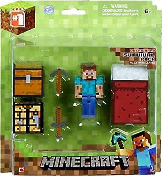 Minecraft Overworld Survival Pack Action Figure Set by Jazwares: Amazon.es: Juguetes y juegos