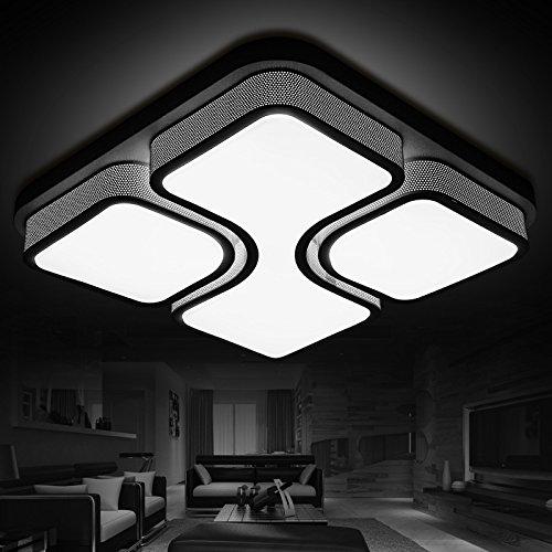 BLYC- LED Lampe hellen Wohnzimmer Lampe Schlafzimmer Esszimmer Lichter Quadrat Mode einfache moderne Deckenleuchten warm das Zimmer Licht 440/520/670 mm * 120 mm , black 67*67cm
