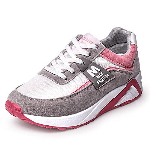 Huagmei Femmes Athlétique Mesh Espadrilles Respirant Chaussures De Sport De Course Rouge