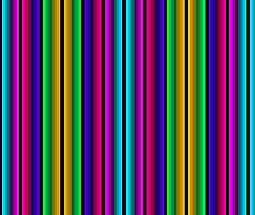 Bright Stripe Fleece (Stripes Fabric Colorful Fade In-Fade Out Bright Stripe by Charldia Printed on Fleece Fabric by the Yard by Spoonflower)
