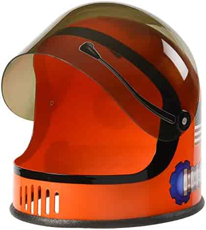 Aeromax Youth Astronaut Helmet with Movable Visor, Orange