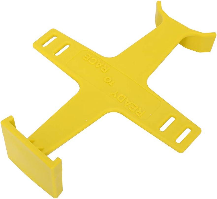 AnXin Universal motocicleta horquilla guardia suspensi/ón soporte soporte soporte herramienta transporte cierre protecci/ón pl/ástico para moto motocross accesorios amarillo
