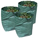 95 Gallon Large Reusable Garden Yard Lawn Leaf Waste Bag Gardening Sack Handle 3